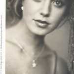 Holiday 2010 Brochure - Mucklows Fine Jewelry, Black and white photo of a woman wearing a diamond pendant