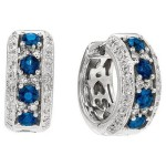 Sapphire and diamond earrings from Gabriel & Co - Mucklows Fine Jewelry, 1103 Crosstown Court, Peachtree City, GA 30269
