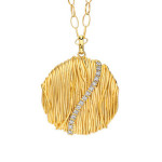 14K yellow gold and diamond pendant from Gabriel & Co - Mucklows Fine Jewelry, 1103 Crosstown Court, Peachtree City, GA 30269