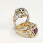 Two rings from Jane Wullbrandt - Mucklows Fine Jewelry, 1103 Crosstown Court, Peachtree City GA 30269