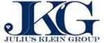 Blue and white logo for the Julius Klein Group